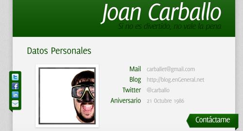 currículum online de Joan Carballo